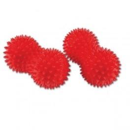 HALCAMP Piłeczka do rehabilitacji orzeszek z kolcami 8x15cm czerwona