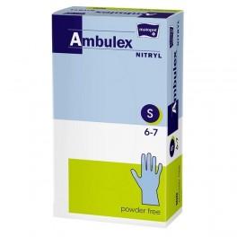 Rękawice zabiegowe Ambulex Nitryl nitrylowe, niepudrowane, niejałowe (violet) S (6-7) 100 szt.