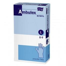 Rękawice zabiegowe Ambulex Nitryl nitrylowe, niepudrowane, niejałowe (violet) L (8-9) 100 szt.