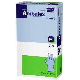 Rękawice zabiegowe Ambulex Nitryl nitrylowe, niepudrowane, niejałowe (violet) M (7-8) 100 szt.