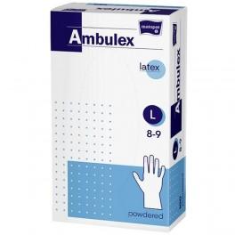 Rękawice zabiegowe Ambulex lateksowe, pudrowane, niejałowe L 100 szt.