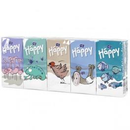 Chusteczki papierowe higieniczne z klipsem Happy No1 10op.x9szt.