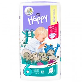 Pieluszki Bella Baby Happy Junior Extra (6) 16+ kg -54 szt. BIG PACK