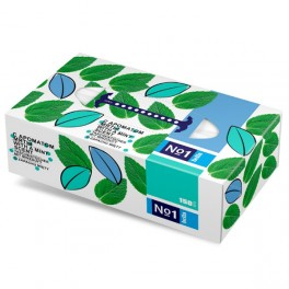Chusteczki higieniczne Bella No1 uniwersalne o zapachu mięty 150 sztuk