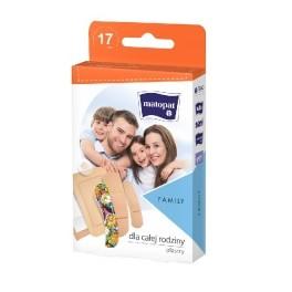 Zestaw plastrów dla całej rodziny Family z opatrunkiem 17 szt. w pionowym opakowaniu