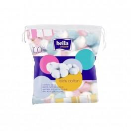 Waciki kosmetyczne Bella Cotton, kolorowe okrągłe 100 szt