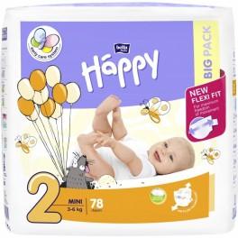 Pieluszki Bella Baby Happy Mini 3-6kg - 78 szt. (Big Pack)